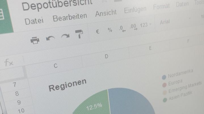 Das eigene Depot tracken mit Google Docs