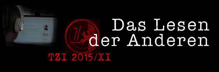 Das Lesen der Anderen 2015 XI